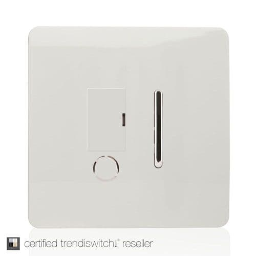 ART-FSWH Trendi White Artistic Modern Switch Fused Spur 13A With Flex Outlet Gloss White